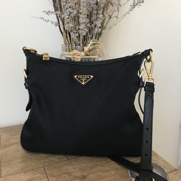 e3058dbfbb08 Prada Bags | Nylon Crossbody Bag Black Tessutosaffian Ne | Poshmark